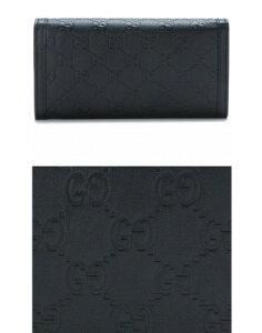 GUCCI282434-AA61G-1000グッチ長財布グッチシマレザーブラック×ライトゴールド