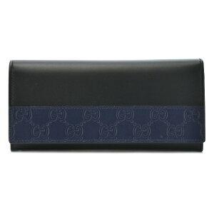 GUCCI408837-CWD3N-1070グッチ二折長財布グッチシマレザーブラック