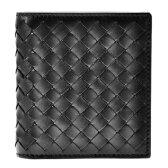 BOTTEGA VENETA222338-V4651-1000ボッテガヴェネタ 二折カード財布レザーブラック