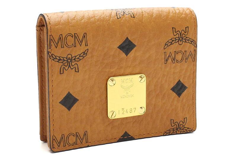 財布・ケース, 名刺入れ MCM MYA6AVI85-CO001 COGNACVISETOS ORIGINAL CARD CASE