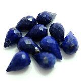 半貴石天然石ブリオレットカット約4-5mm×約6-7mm(1ヶ)ラピスラズリ├天然石ワックスコード蝋引き紐ハンドメイドアクセサリービーズパーツピアスイヤリングブレスレット┤
