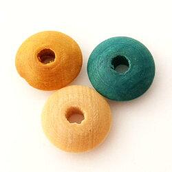 ウッドビーズパーツディスク(1個)├ウッド木ビーズアクセサリーパーツアクセサリーパーツブレスレットピアスイヤリングネックレスワンポイント手芸資材素材┤
