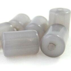 アクリルビーズパーツコロン(1個)ミルキーグレー├アクリル樹脂ビーズアクセサリーパーツアクセサリーパーツブレスレットピアスイヤリングネックレスワンポイント手芸資材素材┤