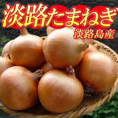 【送料込み】淡路新たまねぎ5kg+10%の保証付!淡路島で生産者を限定し、有機肥料を使用した、...