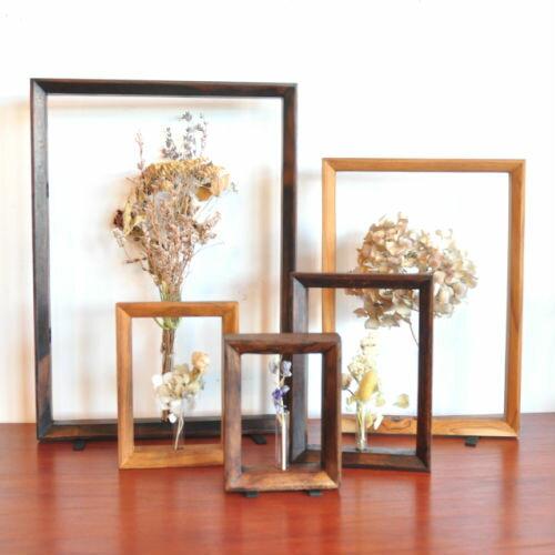 一輪挿しフラワーフレーム(S5)【花瓶 一輪挿し フラワーベース ガラス おしゃれ 壁掛け 試験管 かわいい フレーム ドライフラワー 生花】