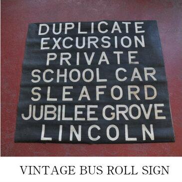 BUS ROLL SIGN/バスロールサイン【バスサイン 地下鉄 サブウェイ ビンテージ アンティーク レトロ インダストリアル カフェ】