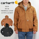 CarharttカーハートJ131サーマルアクティブジャケット12オンス100%コットンダックキャンバス生地MadeinUSAサーマルライニング