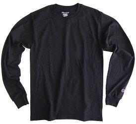 9月25日、再入荷。CHAMPIONチャンピオンメンズ無地長袖tシャツロンtロングスリーブロングtシャツUSA限定モデル黒