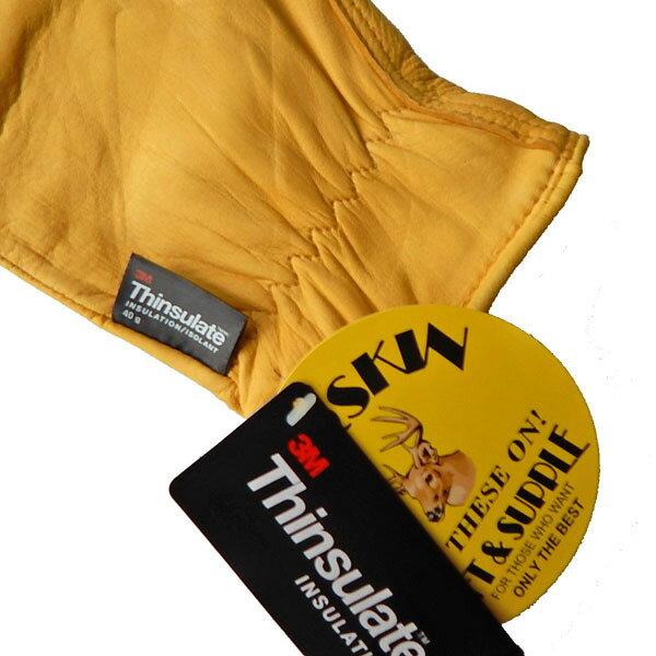 【セール♪ 裏地付き。】 NAPA GLOVE ナパグローブ ディアースキングローブ シンサレート 手袋裏地あり 鹿革 鹿皮 レザー