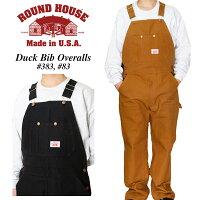 ラウンドハウスroundhouseダックビブオーバーオール#83(BROWN),#383(BLACK)レングス30
