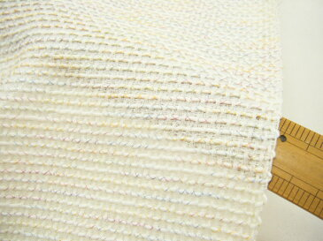 【 1,7m価格 】◆ 高級 有名 ブランド・有名メーカー生地 ◆ 日本製 ファンシーコードツイード ♪ ホワイトmix ♪≪日本製 激安 布 服地 白 ピンク 黄緑 水色 黄色≫【 1,7m着分で 6,800円 】【 宅配便のみです 】 v8ke593 A