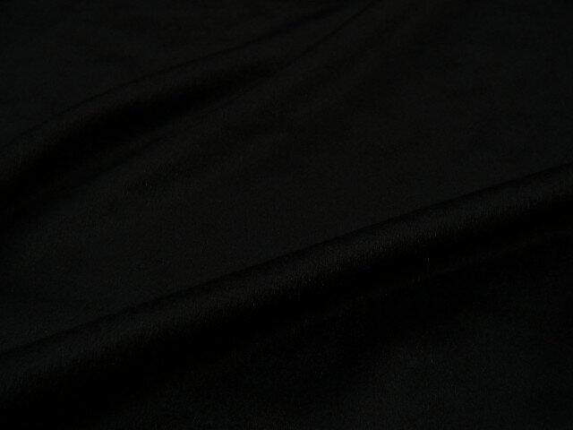 ピュアカシミアです! [JULES TOURNIER(ジュール トゥルニエ)] カシミア100% カシミヤ◆ 高級ブランド生地 ◆ 【 アウトレット 】【 訳あり 】【 2.1m着分で 31,500円 】★ フランス製  カシミア生地 ♪ ブラック ♪≪インポート 黒色 ≫ s11ke279 t:ラ・モードコンドー