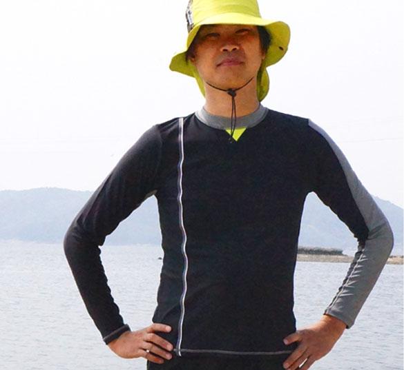 【ワイプアウト/wipeout】日本製ユニセックスラッシュガード(長袖)大人用ラッシュガードスイミング紫外線対策水着UVカットメンズレディス男性女性2014SS