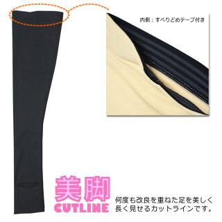 【UVプロテクト】日本製ニーハイラッシュトレンカLN-5100レディース紫外線カット率99%以上どこでも脱げてどこでも履ける!UPF50+LN51002015SS