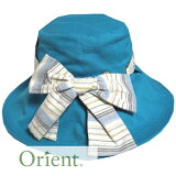【orient/オリエント】ORU010Hサイズ57.5cmリボン付綿ハットぼうし女性用帽子帽子おしゃれハット