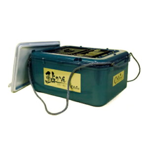 【Oland/オーランド】鮎かん平型 12L モスグリーン ON-121 440520 オトリ缶 鮎カン 友缶 鮎釣用品