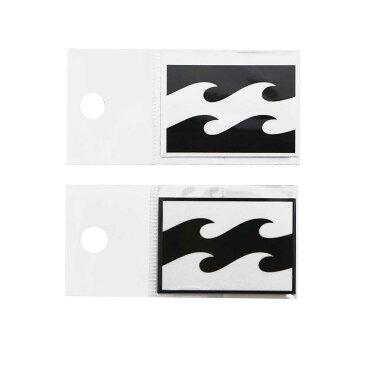 【BILLABONG/ビラボン】B00-S04 W48mm プリントステッカー シール ブラック ホワイト 波ロゴ