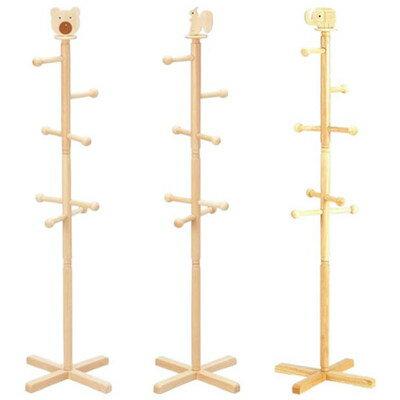 木製 ポールハンガー コートハンガー ナチュラル かわいい 可愛い ポップ ( ポールスタンド 帽子掛け コート ハンガーラック 低い ハンガースタンド スタンド )