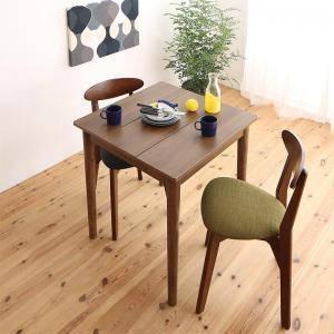 ダイニングテーブルセット 2人用 椅子 一人暮らし コンパクト 小さめ ワンルーム おしゃれ 安い 北欧 食卓 3点 ( 机+チェア2脚 ) ブラウン 幅68 デザイナーズ クール スタイリッシュ ミッドセンチュリー パイン 木製 正方形