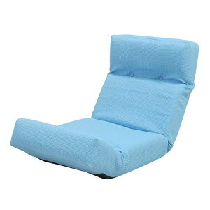 座椅子リクライニングブルー【低反発座椅子座いすチェアチェアー1人掛けソファーソファ座イスリクライニング送料無料】