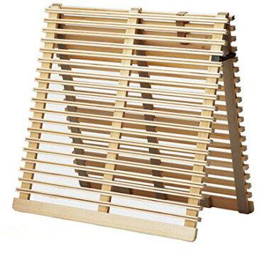 すのこベッド 木製 折りたたみ シングル 通気性 二つ折り 桐 布団干し 室内干し コンパクト 小さい スリム 防カビ 軽量 すのこマット カビ 床板 のみ 和室 ローベッド ロータイプ フロア 低床