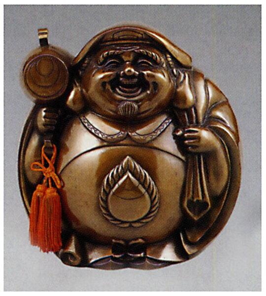 七福神招福大黒小和雑貨開運床の間銅像香炉送料無料