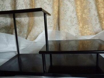 飾り棚 二段 床の間 花台 花瓶台 盆栽台 木製 雑貨 小物 置物 飾り台 送料無料