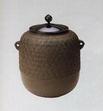 送料無料 風炉釜 棗亀甲地紋 彫刻 銅像 雑貨 置物 茶道 床の間