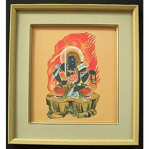 Hanging scroll, Junichi Muto, Zodiac, Rooster, Morimoto, Fudo, Ming King, Buddhist painting