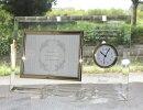 メッセージ入り写真立て時計付き横キシマ退職祝い結婚祝い卒団記念品卒業記念品退職記念品周年記念品
