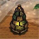 ステンドグラス・ミニランプ 【小さなもみの木ランプ】(LED...