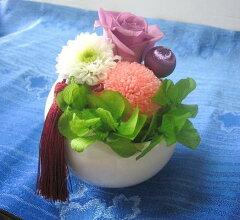 枯れない花 【プリザーブドフラワー 仏花】和風プリザでおしゃれに楽しむ。フラワーギフト【ラ...