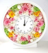 プリザーブドフラワーギフト花時計置き時計掛け時計お祝い新築祝い開店祝い結婚祝いプレゼント誕生日出産祝い引っ越し祝い還暦祝い送別退職祝い記念日花女性