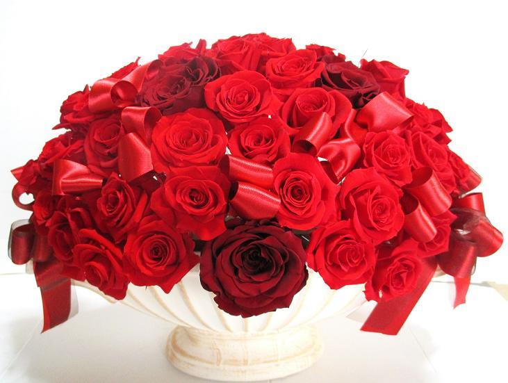 還暦祝い 母 プレゼント バラ60本 送料無料 豪華 薔薇 プロポーズ 結婚記念日 サプライズ 結婚祝い 花 プリザーブドフラワー 赤バラ 開店祝い フラワーギフト 誕生日プレゼント 女性 おしゃれ かわいい ギフト