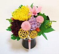 故人を偲ぶ想いを枯れない花プリザーブドフラワー仏花、お供え花、枯れない花、プリザーブドフラワー和風、お誕生日、お祝い、お供え花