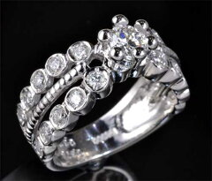 Ptダイヤモンド0.375ctE-VS2Good脇石ダイヤ0.62ctプラチナリング《送料無料!》