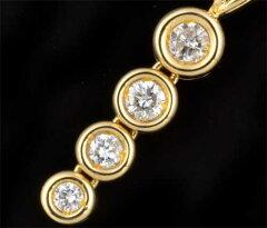 K18ダイヤモンド0.33ct18金ペンダントネックレス《送料無料!》