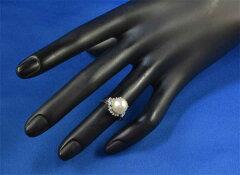 Pt本真珠9.3mmダイヤ0.30ctプラチナリング《送料無料!》