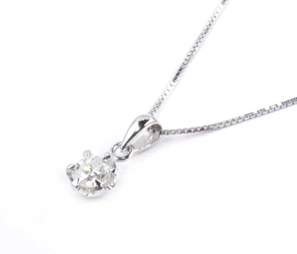 Pt/K18WG ダイヤモンド 0.559ctプラチナ ホワイトゴールド ペンダントネックレス《!》
