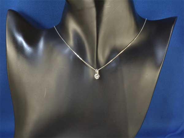 Pt ダイヤモンド 0.546ctプラチナ ペンダントネックレス《!》