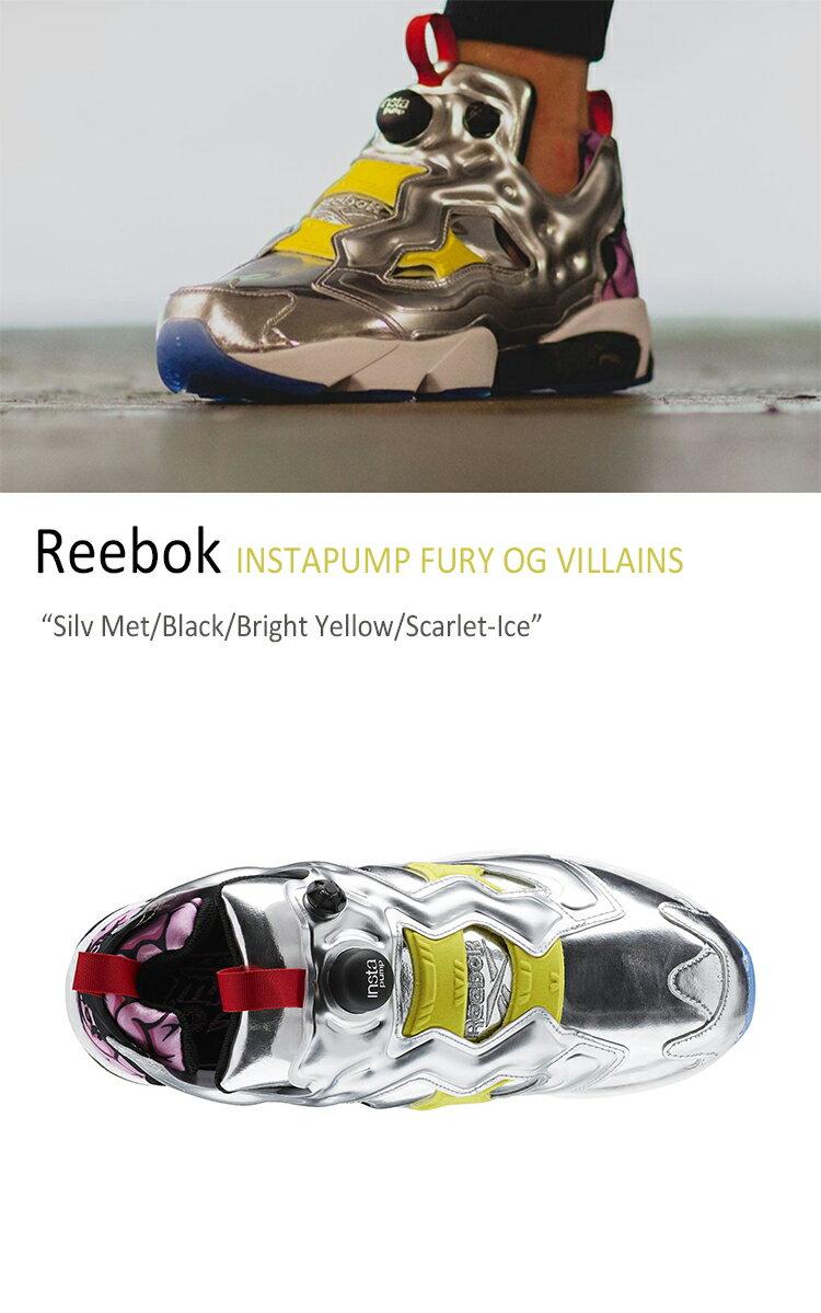 Reebok INSTAPUMP FURY OG VILLAINS Silv Met/Black/Bright Yellow/Scarlet-Ice 【リーボック】【ポンプフューリー】【AR1445】 シューズ
