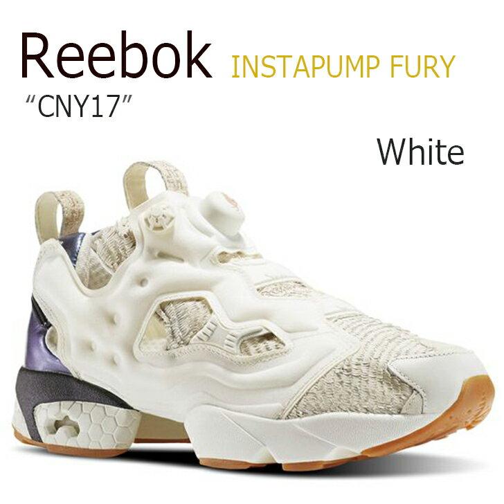 レディース靴, スニーカー Reebok INSTAPUMP FURY CNY17ChalkClassic WhiteRose GoldBD2026