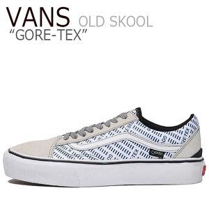 バンズ オールドスクール スニーカー VANS メンズ OLD SKOOL GORE-TEX オールド スクール ゴアテックス WHITE ホワイト BLUE ブルー VN0A4P3FZ5D シューズ