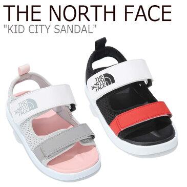ノースフェイス サンダル THE NORTH FACE キッズ KID CITY SANDAL シティーサンダル BLACK ブラック GRAY グレー NS96K14A/B シューズ 【中古】未使用品