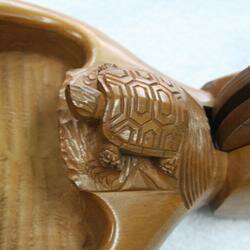 墨壺一匹亀材質ツゲ