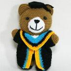 キュートな編みぐるみ珍しい学生服姿のクマさん♪アジアン雑貨販売BCDSHOP