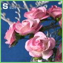 ミニバラ 装飾造花【花】Sサイズ(ピンク・白あり)アジアン雑貨販売
