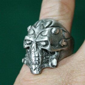 スカルリング23号サイズハードデザインテイストがかっこいいシルバーリングsilver ring