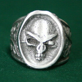 スカルリング21号サイズハードデザインテイストがかっこいいシルバーリングsilver ring