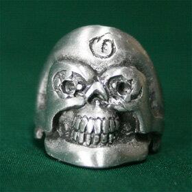 骸骨スカルリング16号サイズハードデザインテイストがかっこいいシルバーリングsilver ring